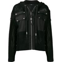 Diesel Hooded Net Jacket - Preto