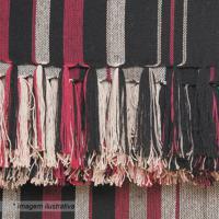 Manta Para Sofá Egípcia- Preta & Vermelha- 140X150Cmartesanal