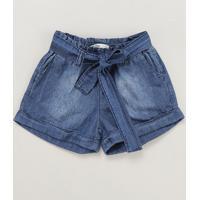 Short Jeans Infantil Clochard Azul Escuro