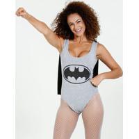 Body Feminino Batman Regata Liga Da Justiça