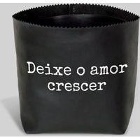 Amaro Feminino Design Up Living Cachepot 13X14, Deixe Crescer