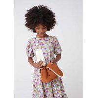 Bolsa Saco Infantil Menina Em Veludo Cotelê