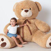 Urso Gigante De Pelúcia Tommy Buba Bege 7565