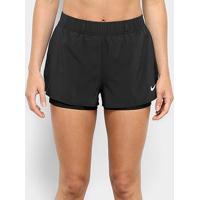 Short Nike Flex Feminino - Feminino-Preto+Branco