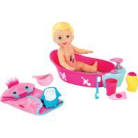 Boneca Little Mommy - Brincadeira Na Banheira - Mattel - Feminino-Incolor