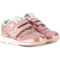 New Balance Kids Perforated Detail Sneakers - Rosa