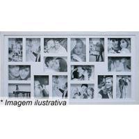 Painel Para 16 Fotos- Branco- 43X83X3Cm- Kaposkapos