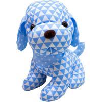 Pelúcia Minas De Presentes Cachorro Pano Azul