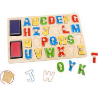Carimbo Tooky Toy Alfabeto Tabuleiro Em Madeira - Tkb832 - Multicolorido