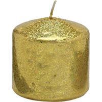 Vela Pilar- Dourada- 7Xã˜7,5Cm- Mabrukmabruk