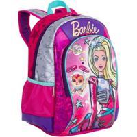Mochila Infantil Barbie Aventura Nas Estrelas - Feminino-Rosa