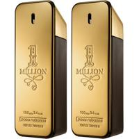 Kit Paco Rabanne 2 Perfumes Masculino One Million Edt 100Ml - Masculino-Incolor