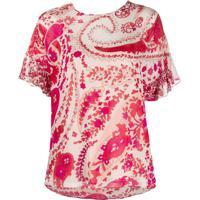 Twin-Set Camiseta Com Estampa Paisley - Neutro