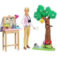 Boneca Barbie Nat Geo Cuidadora De Borboletas Com Acessórios - Feminino-Colorido