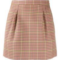 Redvalentino Houndstooth-Check Mini-Skirt - Neutro
