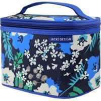 Necessaire Frasqueira Estampada Tam. P Jacki Design Miss Douce Azul Floral