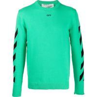 Off-White Camiseta Com Estampa Gráfica - Verde