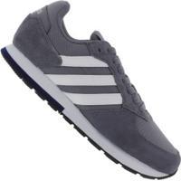 Tênis Adidas 8K - Masculino - Cinza Escuro/Branco