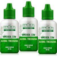 Minoxidil Com Auxina Tricogena - Loção Antiqueda 100 Ml (Kit Com 03 Frascos)