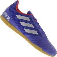Chuteira Futsal Adidas Predator 19.4 In - Adulto - Azul
