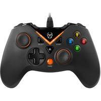 Controle Nox Krom Gaming Key Ps4, Ps3, Xbox One, Pc. Preto Fosco/Laranja - Nxkromkey