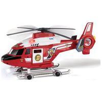 Mini Veículo - Helicóptero - Vermelho E Branco - Fast Lane