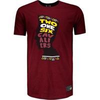 Camiseta Dallas Mavericks Nba New Era Masculina - Masculino-Vinho