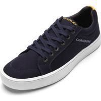 Sapatênis Calvin Klein Recortes Azul-Marinho
