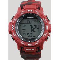 Relógio Digital Mormaii Masculino - Mo1173A8R Vermelho