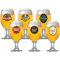 Taça De Cerveja Roma 400Ml 6 Peças - 29465