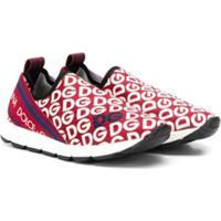 Dolce & Gabbana Kids Teen Slip-On Sneakers - Vermelho