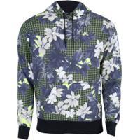 Blusão Com Capuz Nike Paradise Hoodie Aop - Masculino - Preto/Verde Cla