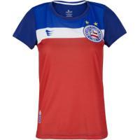 Camiseta Do Bahia Passion 19 Super Bolla - Feminina - Vermelho/Azul