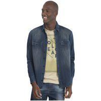 Camisa Masculina Jeans Escuro Polo Wear 50024 Jeans Preto
