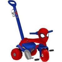 Triciclo Infantil Homem-Aranha 3008 - Unissex-Vermelho+Azul