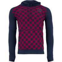 Blusão De Moletom Barcelona Hood Com Capuz Nike - Masculino - Azul Esc/Vinho