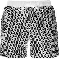 Short Tommy Hilfiger Masculino Swimwear Trunk Pattern Preto