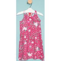 Vestido Nadador Floral- Rosa & Cinzakyly