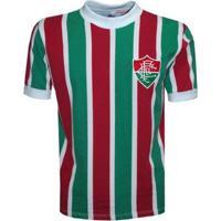 Camisa Liga Retrô Fluminense 80´S - Masculino-Verde+Vermelho
