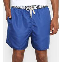 Bermuda Acostamento Boxer Masculina - Masculino-Azul Royal