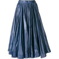 Calvin Klein 205W39Nyc Saia Midi Com Franzido - Azul