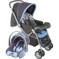 Carrinho De Bebê Com Bebê Conforto Cosco - 0 A 15Kg - Unissex-Azul+Preto