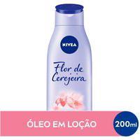 Loção Deo-Hidratante Nivea Óleos Essenciais Flor De Cerejeira Com 200Ml 200Ml