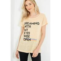 Blusa Ateen Silk Dreaming Creme Feminina - Feminino