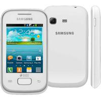 "Smartphone Samsung Galaxy Y Plus Gt-S5360 Branco - 2Mp - Bluetooth - 3G - Wi-Fi - 3"" - Android 2.3"