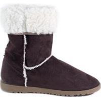 Bota Feminina Suéde Jr Shoes - Feminino-Marrom