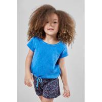 Blusa Infantil Flame Com Cadarco Reserva Mini Feminina - Feminino-Azul