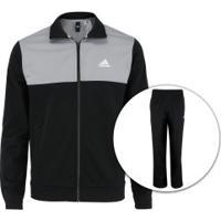 Agasalho Adidas Back 2 Basics - Masculino - Preto Cinza Claro b623d9d7a99ab
