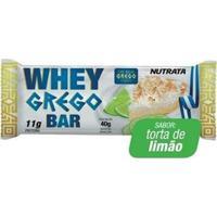 Barra Whey Grego Bar - 12 Unidades De 40G Torta De Limão - Nutrata - Unissex