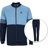 Agasalho Adidas Mts Pes Cosy - Masculino - Azul Esc Azul Cla 721eb736291a0